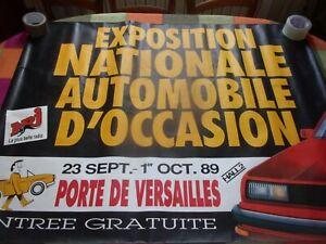 AFFICHE-Exposition-vehicule-d-occasion-paris-1989-renault-peugeot-citroen-simca