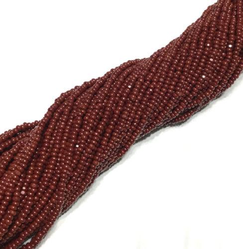 11//0 Charlotte 3-Cut Full Hank Preciosa Czech Dk Maroon Glass Seed Beads