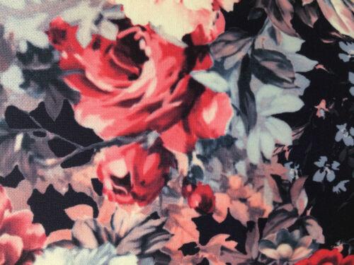 Womens Short Cap Sleeve Rose Floral Printed Tunic Bodycon Mini Dress