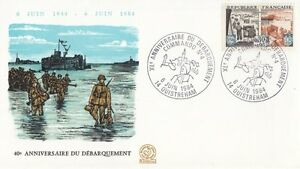 FRANCE-1984-40th-ANNIVERSARY-OF-D-DAY-OUISTREHAM-special-cancel