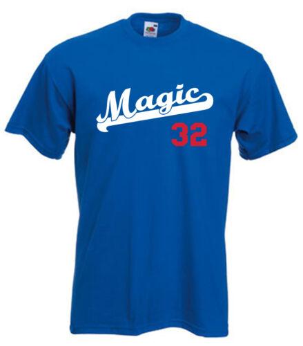 "Los Angeles Dodgers Magic Johnson /""Magic/"" jersey T-shirt  S-5XL"