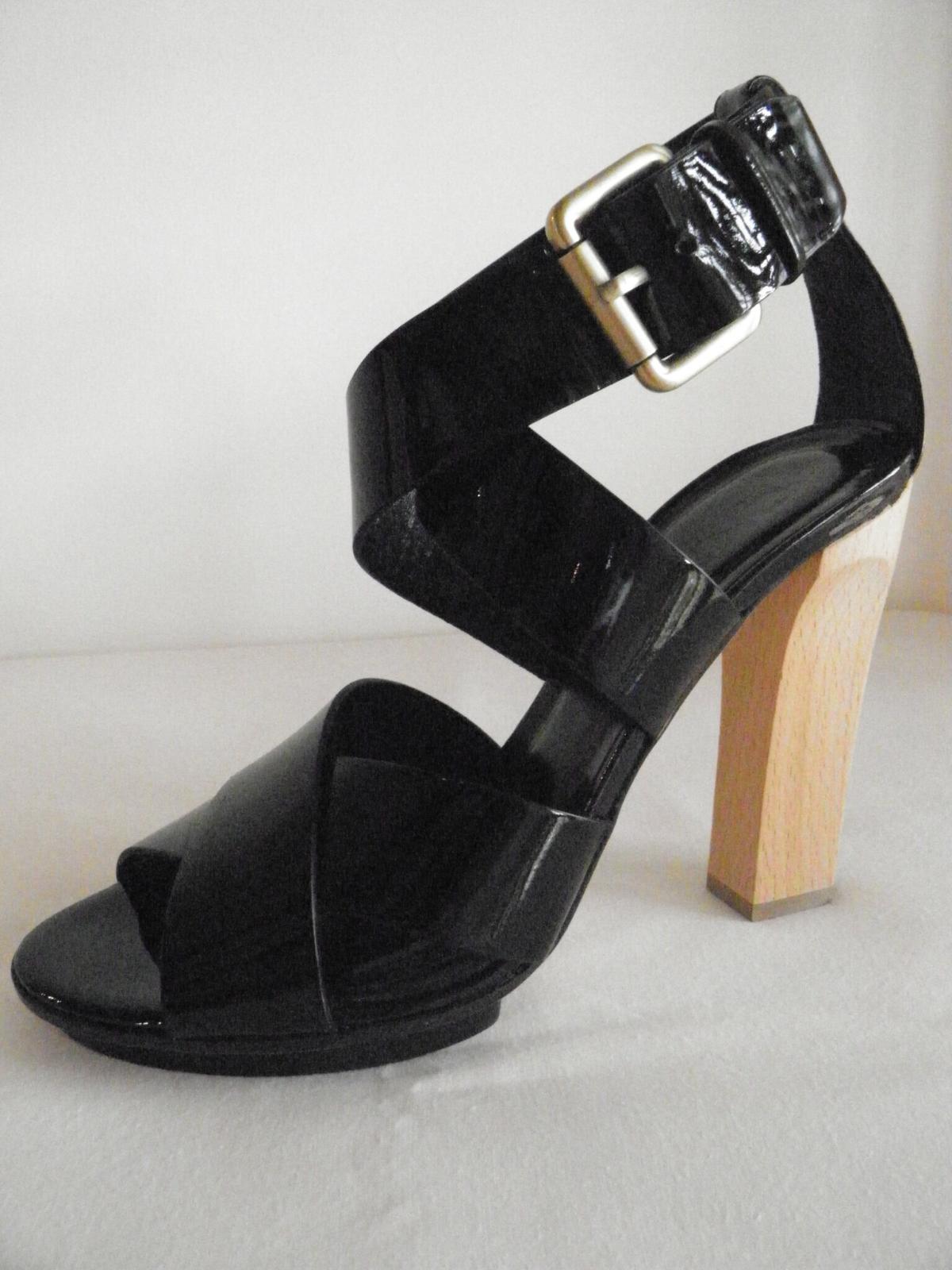 0b10ca232cb771 ... dkny a noir des sandales en cuir chaussure nouveau nouveau nouveau  brevet d'euros à ...