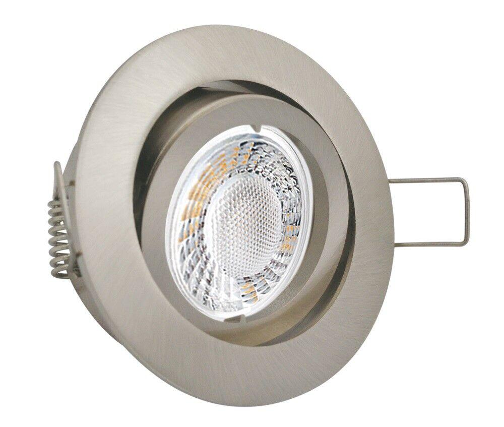 1-10er Set LED 5W Deckenspots Einbaulampe Einbaustrahler 230V flach dimmbar