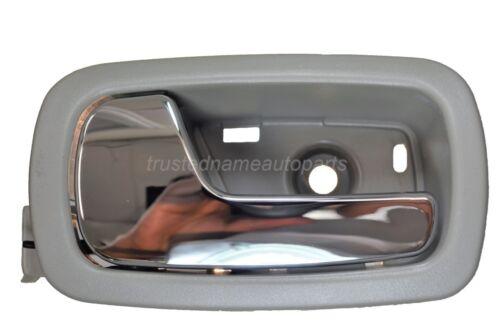 Interior Inner Inside Door Handle Gray Chrome Lever Driver Side Rear