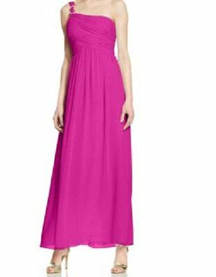 Aqua Womens Pink Special Occasion Full-Length Evening Dress Gown S BHFO 3176