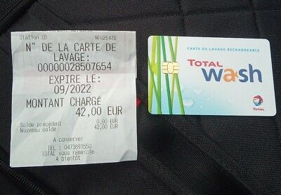 Carte lavage Total Wash 42 euros