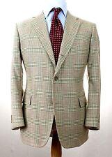J.PRESS PRESSTIGE Tweed Beige Green Red Glenplaid TRAD Sport Coat Jacket 42 R