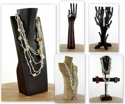 Büste Holz 30 cm Schmuckständer Display Schmuckhalter Kettenhalter Holzbüste sch