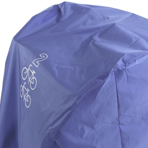 Bicycle Cover Waterproof Moped Scooter Sheet UV Weather Shelter For 2 Bikes Blue
