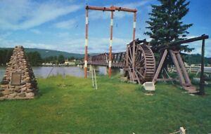 Cornish-Water-Wheel-Quesnel-BC-Vintage-Postcard-D10c