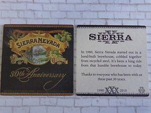 2010 Bière dessous de Verre - Sierra Nevada 30th Anniversaire ~ Chico-California wQh013LA-09101916-611982872
