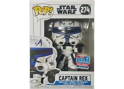 pop star wars captain rex 2018 274 convention exclusive w/ hard protector | ebay