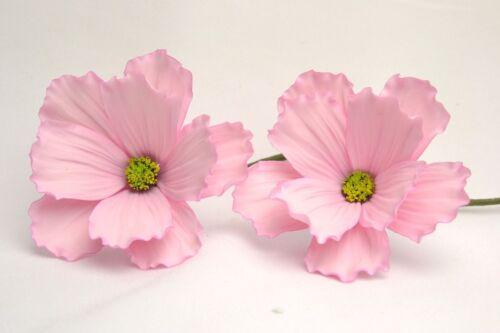 handmade wedding cake topper birthdays anniversary pink Details about  /Cosmos flower x  2