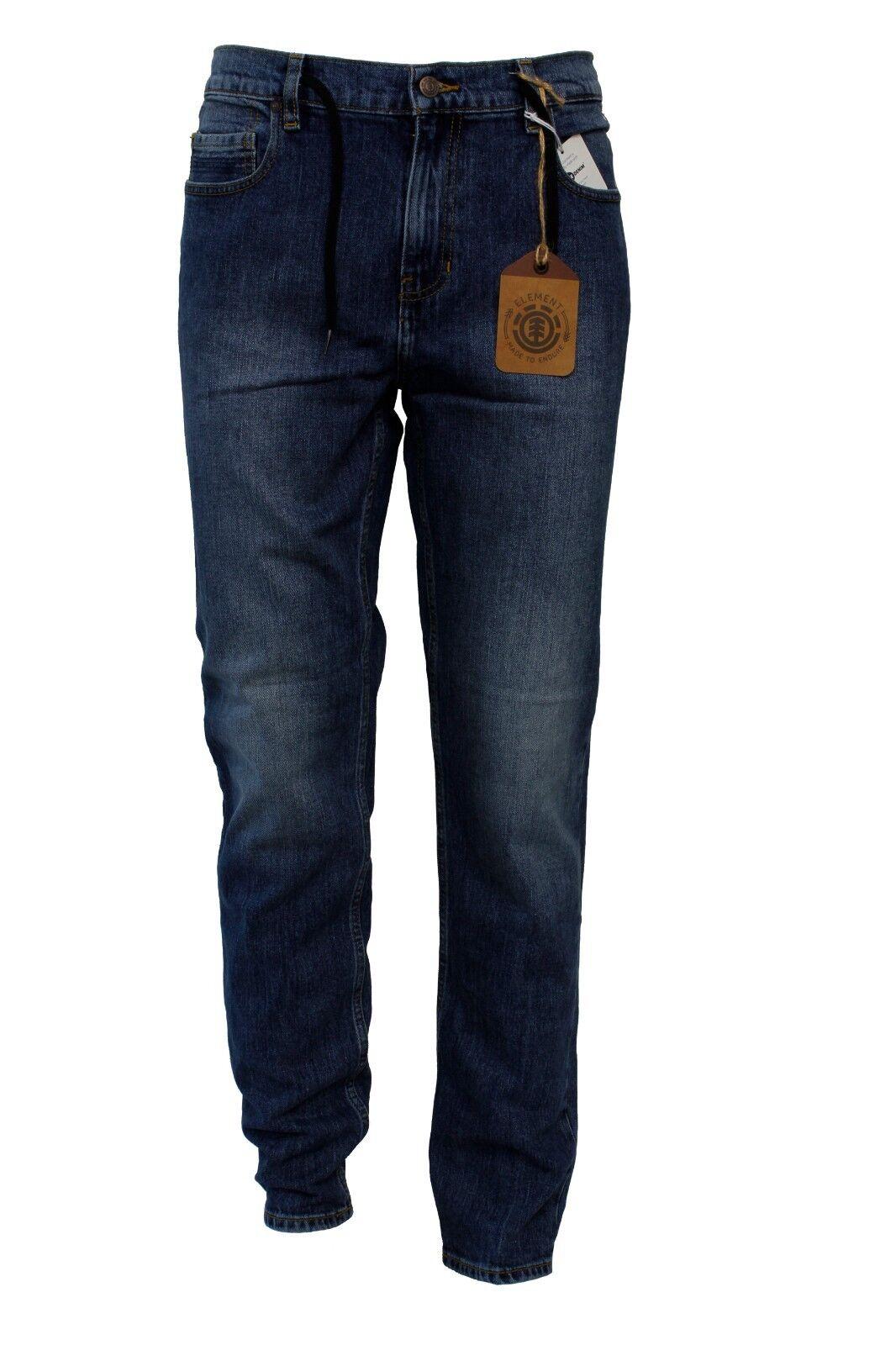 Jeans da da da uomo blu denim lungo Element Owen cotone elastan bottoni zip casual f0808e