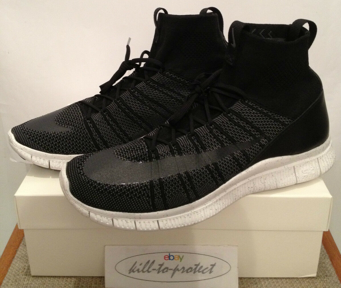 NIKE HTM FLYKNIT SUPERFLY MERCURIAL Black Sz US12 UK11 Free 667978-001 TZ 2014