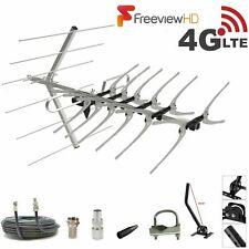 Freeview TV Aerial Full 36 Install Kit 4 Outdoor & Indoor Digital HD 4k Signals