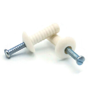 1-4-034-Nylon-Hammer-Drive-Pin-Nail-In-Masonry-Concrete-Anchors-Zinc-Nail-QTY-250