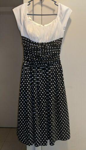 Unique Vintage Polka Dot Swing Dress