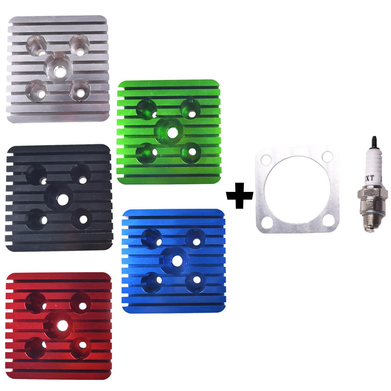 Aluminum CNC Cylinder Head Spark Plug Set For 66CC  80CC Motorized Bicycle New  cheap designer brands