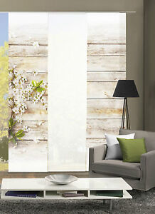 Flaechenvorhang-Schiebevorhang-digital-bedruckt-60x245-Prime-Board-Bluete-Holz