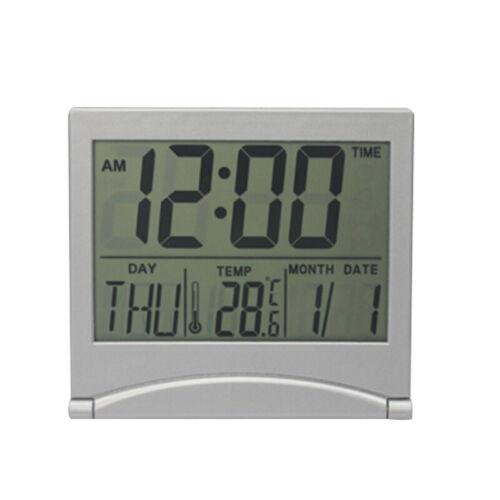 Date Time Digital LCD Calendar Alarm Thermometer New Clock Desk Display New