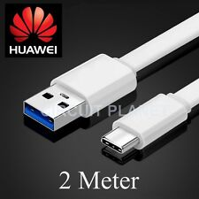 LONG USB TYPE C TO USB SYNC CHARGER CABLE LEAD FOR HUAWEI P9 / P9 PLUS 2M WHITE