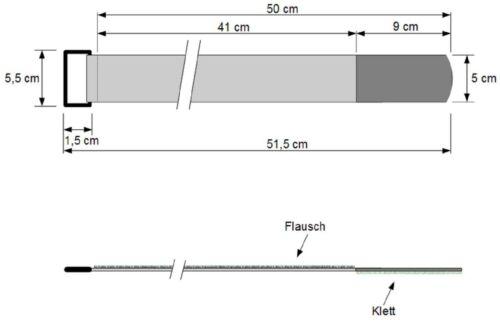 20x Velcro Fascette per cavi 500 x 50 mm VERDE SCURO Cavo Nastro Di Velcro Cavo Velcro nastro di velcro