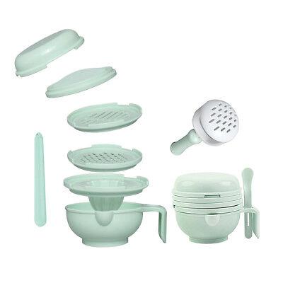 Manual Baby Infant Food Fruit Vegetable Grinder Bowl Mill Blender Masher Home