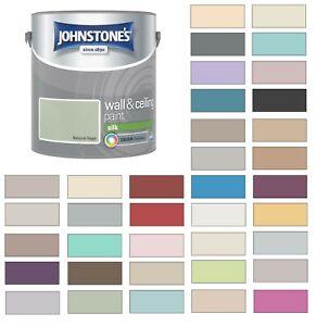 Johnstones Wall Ceiling Silk Emulsion Paint 2 5 Litres All Colours Ebay
