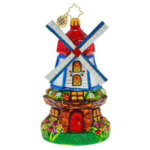 Christopher-Radko-NEW-CATCHING-A-BREEZE-WINDMILL-Christmas-Ornament-1020521