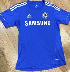 official photos 0ff78 e2b82 Details about Gold Adidas Chelsea CFC Futbol Soccer Home Jersey Samsung  Youth XL 16 (Mens S)