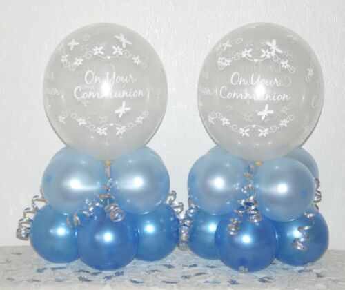 6 //12 Pack Table Balloon Decoration Display Kit BLUE Communion BOY or GIRL 2