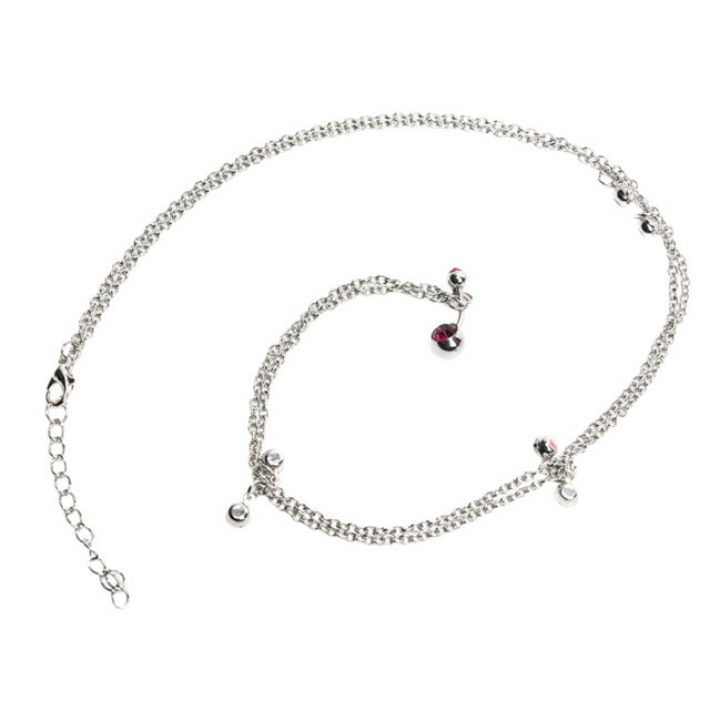 Crystal Tassel Navel Belly Button Ring With Waist Chain Body Piercing Women CRIT