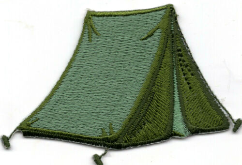 CAMPING TENT  Iron On Patch Scouts Cub Girl Boy Tent Camper Vacation