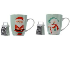 Mug 1PZ Christmas 8, 5X10CM With Grater For Chocolate Choice Gift