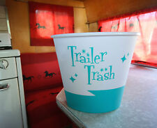 "Blue ""Trailer Trash"" for Vintage Canned Ham Travel Trailers"