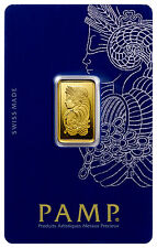 PAMP Suisse 5 Gram .9999 Gold Bar - Fortuna With Assay Certificate SKU29096