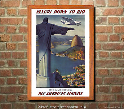 VINTAGE FLYING DOWN TO RIO MOVIE POSTER A3 PRINT