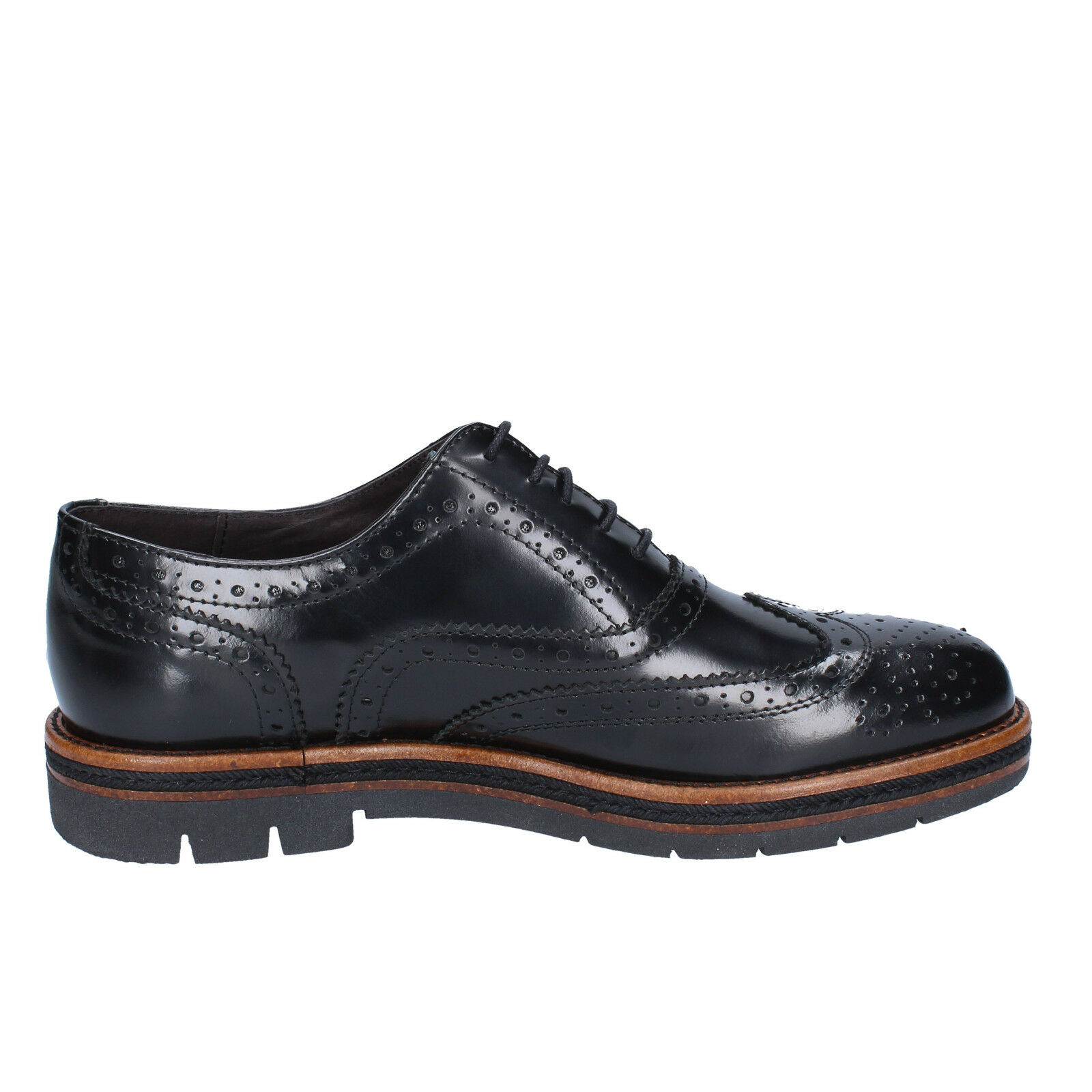 mens 41) shoes OSSIANI 7 (EU 41) mens elegant black leather BX306-41 069bce