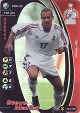 FOOTBALL CHAMPIONS 2001-02 Steve Marlet 023/105 Equipe de FRANCE FOIL