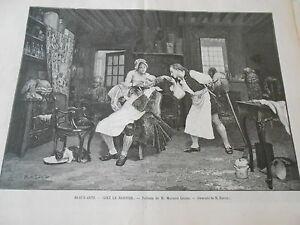 Adroit Gravure 1899 Chez Le Barbier D'après Maurice Leloir