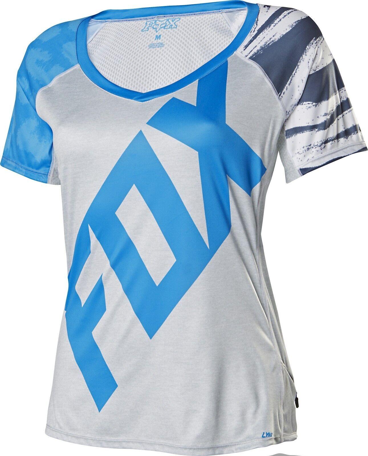 Fox Racing Womens Lynx  s s Jersey bluee Grey  hot sale online