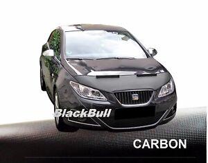 Haubenbra-Seat-Ibiza-6J-2008-2012-Car-Bra-Steinschlagschutz-Tuning-CARBON