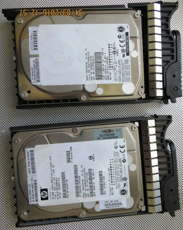 Hard Drive MAP3367NC - HP Spare P/N: 344687-003 ***NOT WORKING***