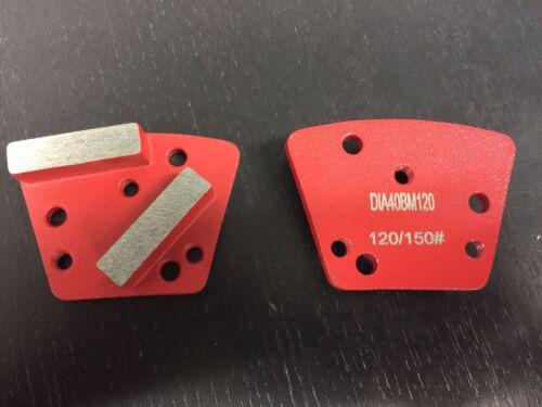 Trapezoid Metal Diamond Concrete Grinding Pad Scraper120//150 GritMed Bond
