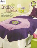Wild Indigo Blanket Knitting Instruction Pattern Annie's