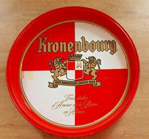 Ancien-Plateau-Metal-Publicitaire-Kronenbourg-Bistrot-Bar-Collection-Vintage