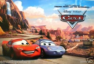 Disney Cars Movie Poster 2 Cars On Winding Road Above Radiator