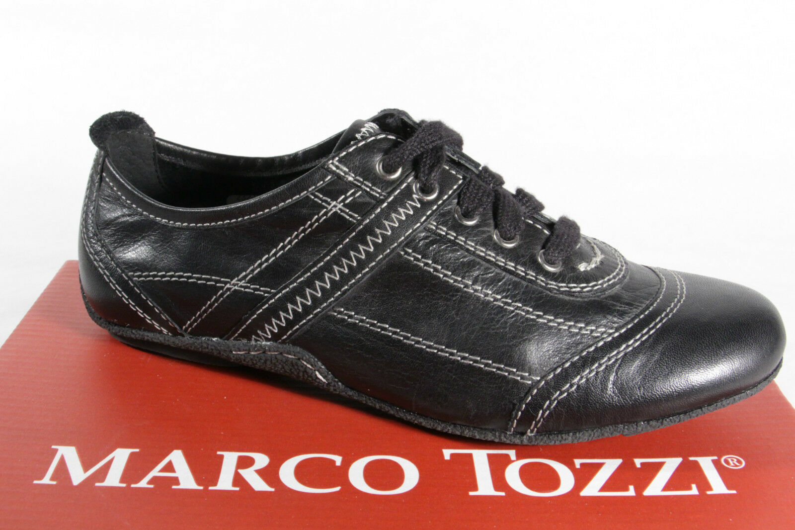 MARCO TOZZI TOZZI TOZZI Lace Up Sneakers Low shoes Genuine Leather NEW 6b5001