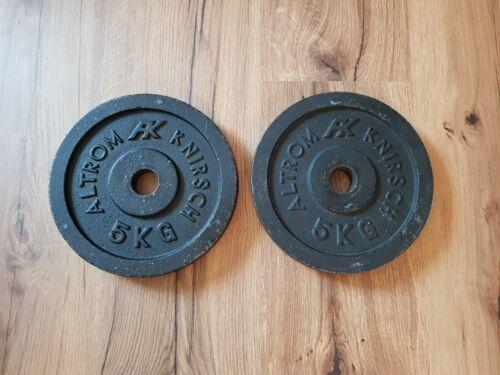 AK Altrom Knirsch Hantelscheiben 10kg Gusseisen 2x5kg Lochdurchmesser 30//31mm